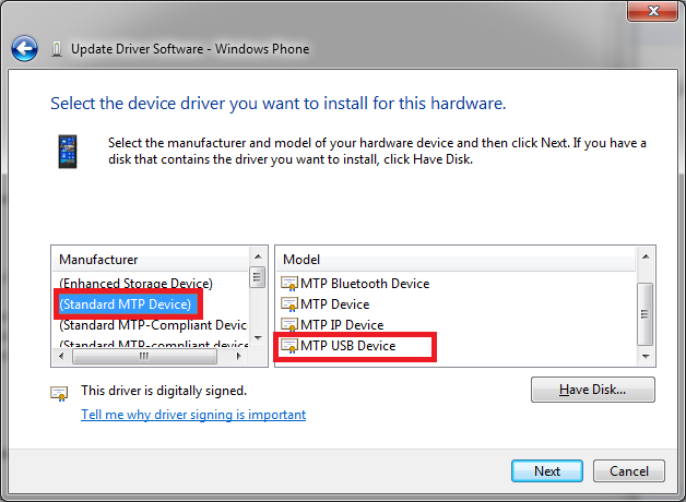 How to fix mtp(media transfer protocol) usb device driver for.