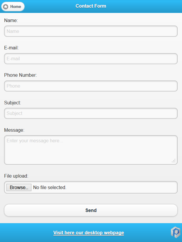 Jquery Mobile Contact Form With File Upload Knowledge